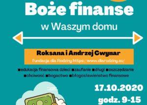 Boże finanse w Waszym domu 17.10.2020 r., Wrocław